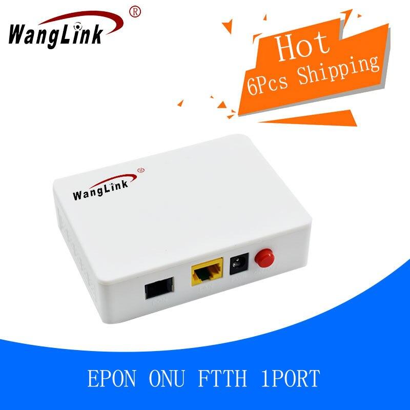 Wanglink 6 pièces OLT FTTH 1 port 1.25G Epon ONU ONT l'équipement de terminal d'utilisateur optique de fibre d'ethernet Compatible avec ZTE fibrehome