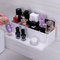 Wall mounted Bathroom Glasses Storage Rack for Earrings Jewelry Women's Simple Watch Nail Polish Bottle Tray Storage Box