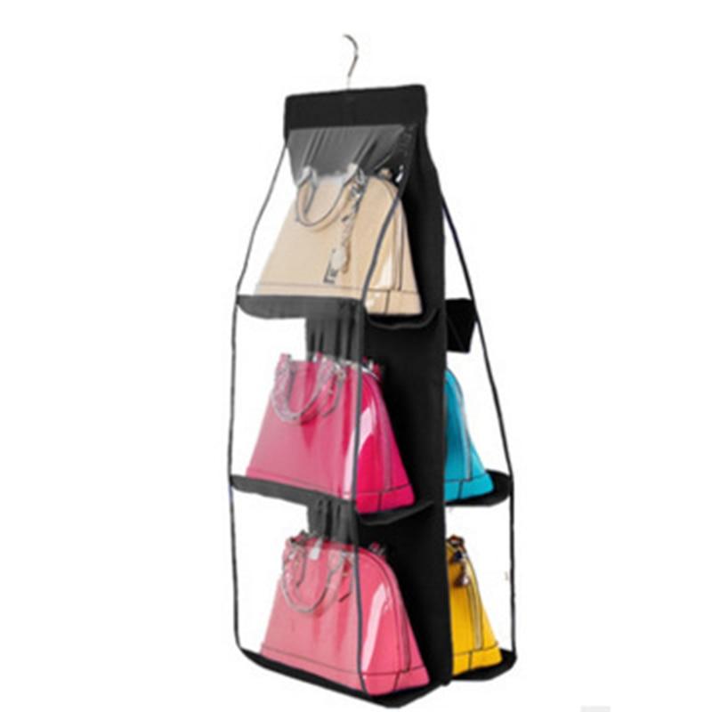 1 шт. 6 карман Рюкзак хранения сумки шкаф стеллаж быть висит хранения обуви Организатор Высокое товары для дома