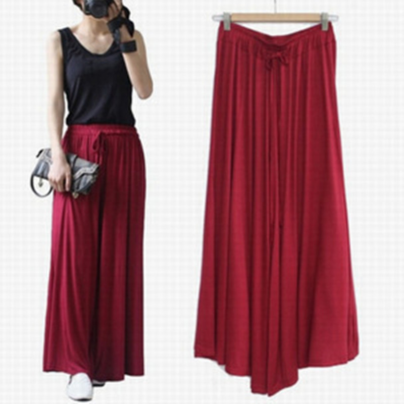 Summer Slim Wide Leg Pants Women Fashion Pants Solid Color Large Size High Waist Wide Leg Trousers Ladies Casual Straight Pant