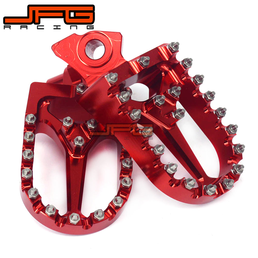 Billet MX Foot Pegs Pedals Rests Footpeg For CR125 CR250 1995 1996 1997 1998 1999 CR500 1998- 2005 YZ125 YZ250 1997-1998 WR400 meziere wp101b sbc billet elec w p