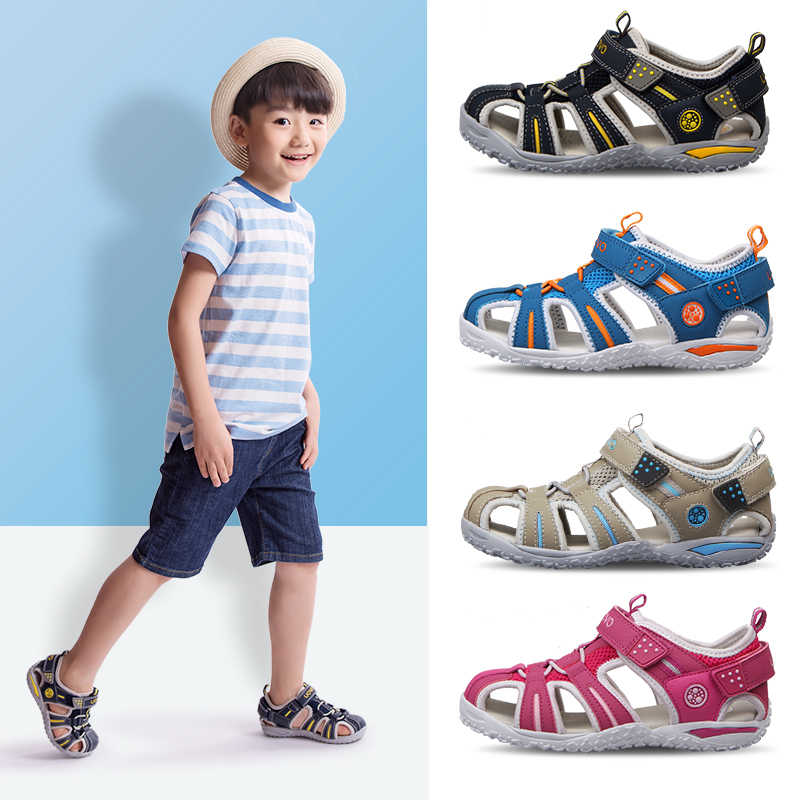 Summer Boys Sandals Pu Leather Flat Childrens Shoes for Toddler Boys Orthopedic Baby Sandals