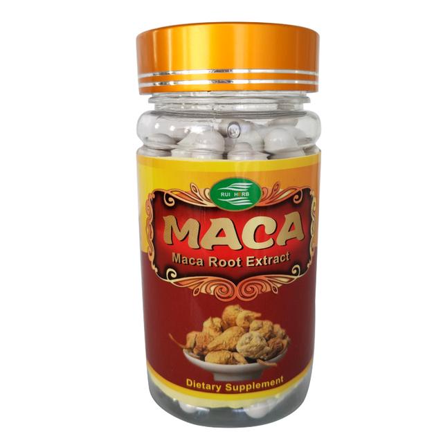 1 Botella de Polvo de Extracto de Raíz de Maca Extracto 500 mg x90Capsule Alta Resistencia Libido Sexual Y Apoyo