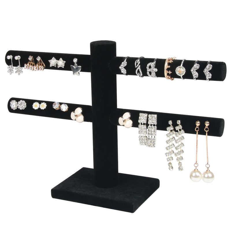 Бархатные серьги, кольцо, органайзер, серьги, шпильки, ювелирные изделия, витринная стойка, 2 цвета, черный/серый