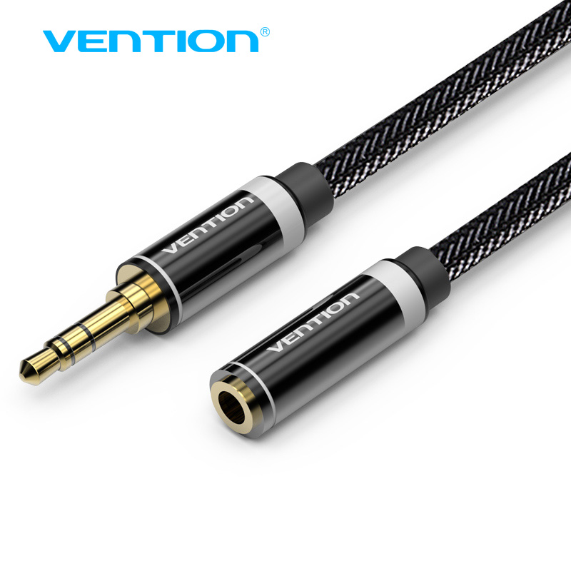 Vention 3.5mm Jack Male to Female Stereo Aux Extension Cable 1m/2m/3m/5m for iPhone iPod Car Headphone Nylon Braid Audio Cable цена