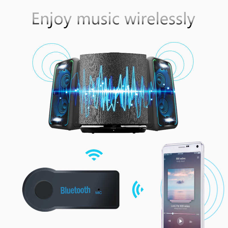Bluetooth Audio Receiver Universal 3.5mm Auto AUX A2DP Function Receiver Music Receiver Adapter Kit for Speaker Car Headphone PC