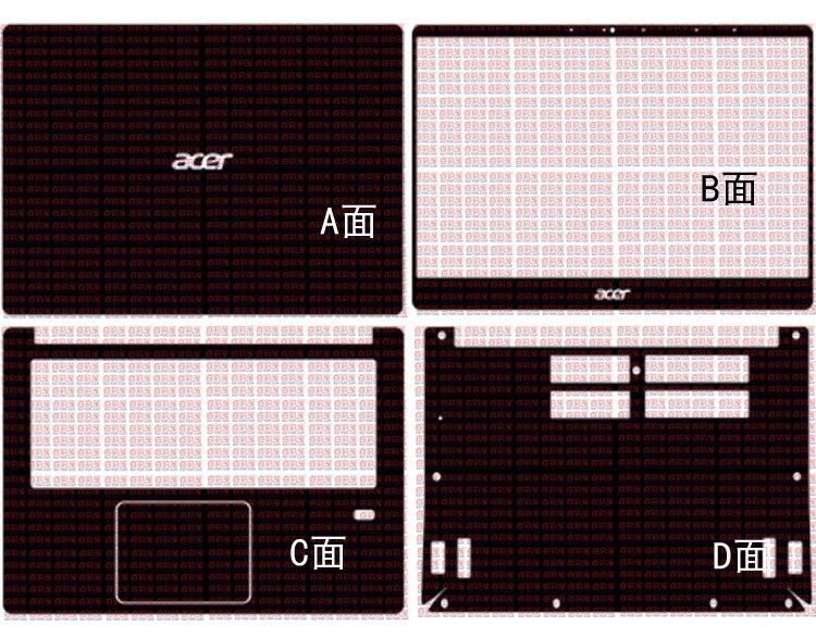 Laptop Carbon Fiber Vinyl Skin Sticker Cover For Acer Swift 3 SF314-54 SF314-56 SF314-41 14
