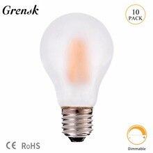 Grensk A19 Frosted Globe led Lamp 8W Vintage LED