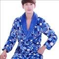 Mens outono Inverno Flanela Roupões Roupão Para Homens Manga Longa Kimono Robe Masculino Sleepwear Homewear Pijamas Homens Salões