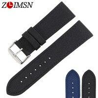 ZLIMSN New Nylon Watches Strap Men S Women S Sport Watch Band 22mm Black Straps 18mm