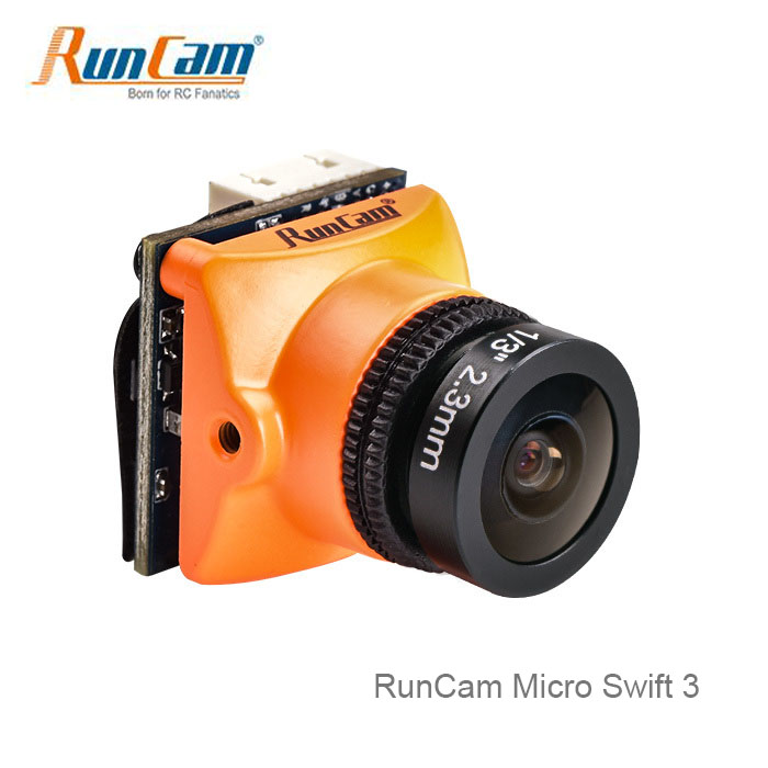 Newest RunCam Micro 600TVL Swift 3 1/3 SONY Super HAD II CCD 2.1mm Built-in Remote Control M12 Lens FPV camera for Racing Drone