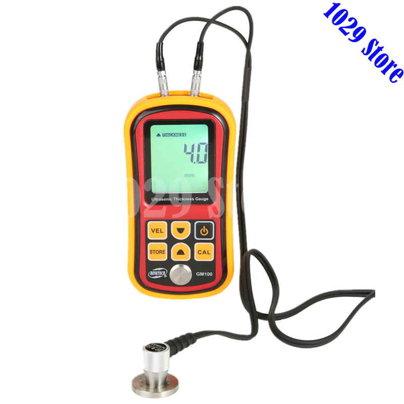 Digital Ultrasonic Thickness Gauge Thickness Tester Metal Width Measuring Instrument Thickness Meter GM100 exploit high precision 0 01mm profession digital lcd display thickness gauge meter paper leather fabric thickness tester