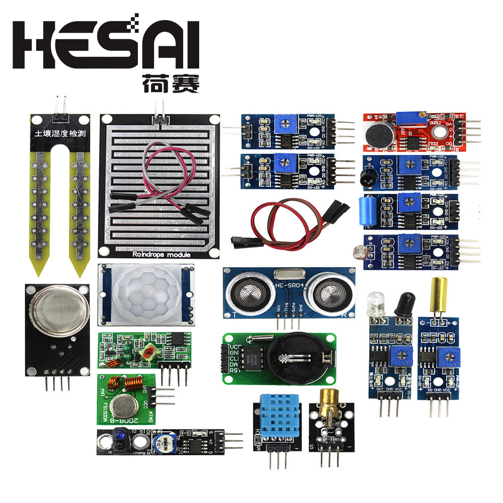 US $8 52 |16pcs/lot Raspberry Pi 3&Raspberry Pi 2 Model B The Sensor Module  Package 16 Kinds of Sensor-in Sensors from Electronic Components &