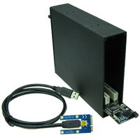 Mini PCIe to Dual PCI Bus Slot Adapter with case enclosure
