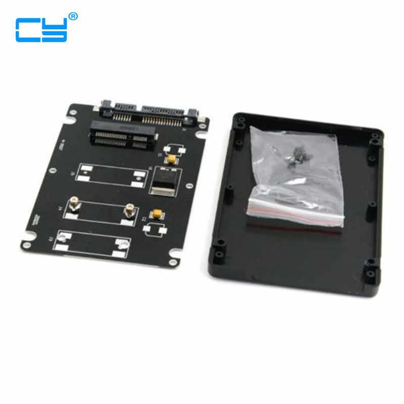 "Mini PCI-E msata ssd do 2.5 ""SATA obudowa dysku twardego konwerter Adapter kolor czarny"