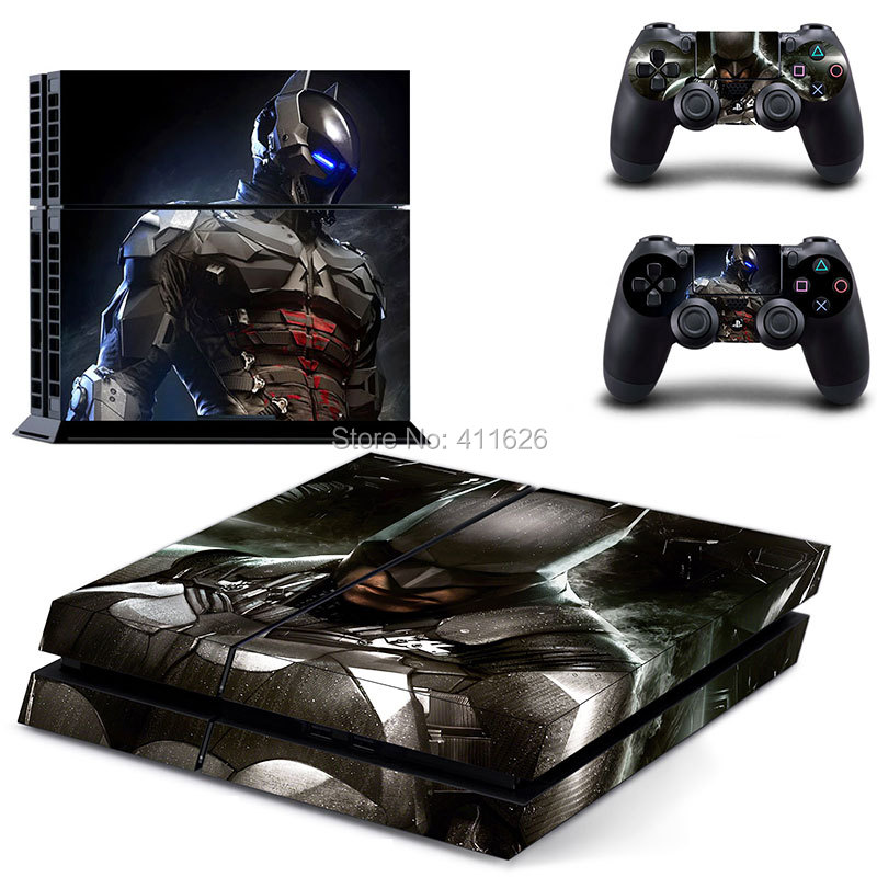 Bat Man Pattern factory price cover decal skin sticker for PS4 games for PS4 vinyl skins free shipping