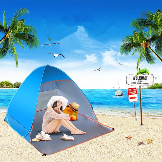 Cheia ao ar livre do Piquenique barraca de praia automático Anti Raios Ultravioleta À Prova D' Água para a Pesca de Sobrevivência Campo