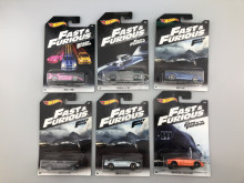 Fast and furious series 1: 64 toy car nissan dodge honda ford classical car toys for boys 6 cars one set(China)