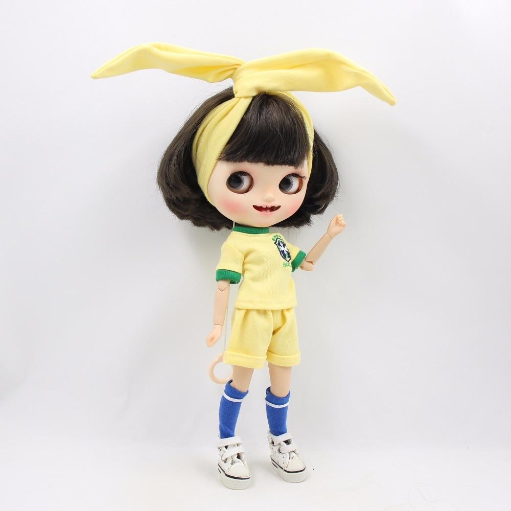 Neo Blythe Doll Brasil Football Team Uniform 5
