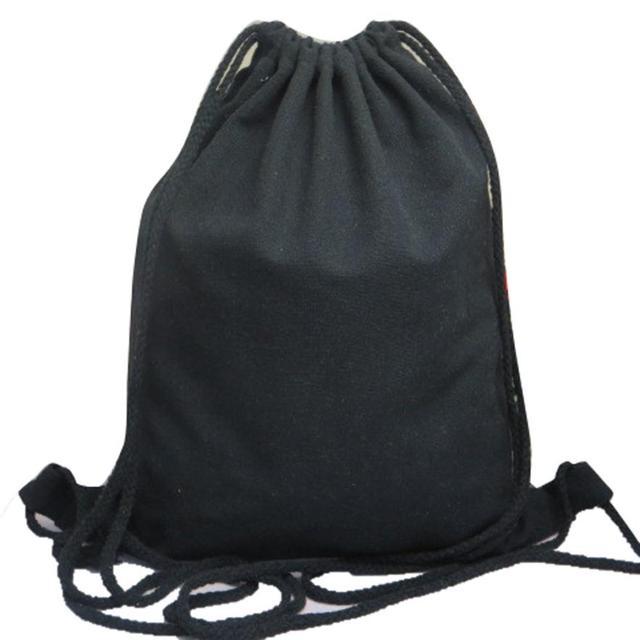 2017 New women Solid color canvas DrawString bag ladies simple backpack  female travel Rucksack mochila feminina 48b9bd09bf