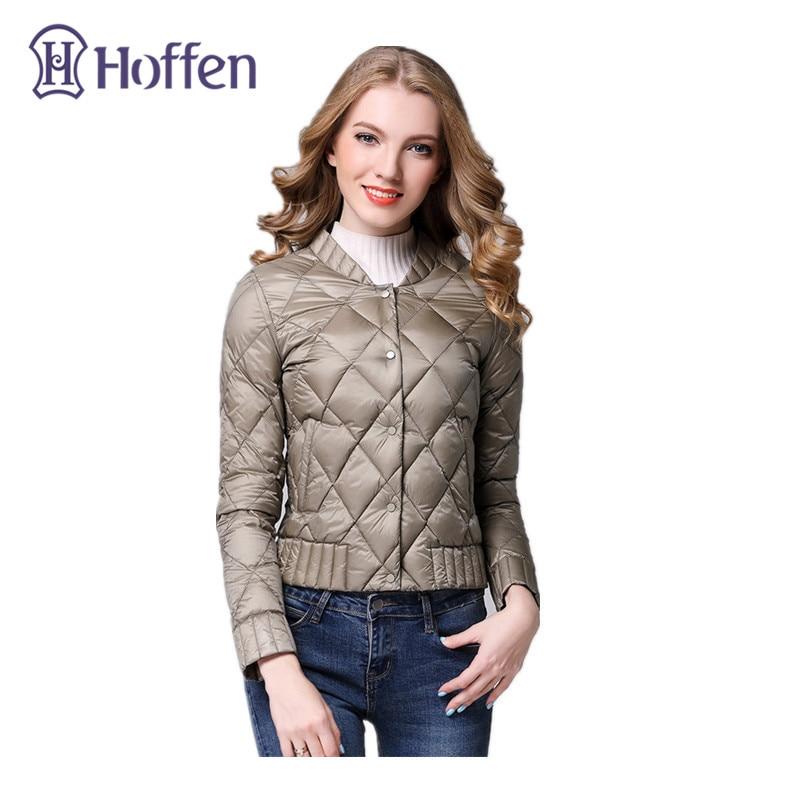 Hoffen Spring Winter Women Ultra Light Down Jacket Casual Female White Duck Down Coat Slim Fit