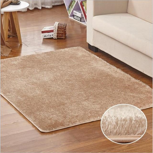 New Modern Korean Silk Soft Large Carpets For Living Room Bedroom ...