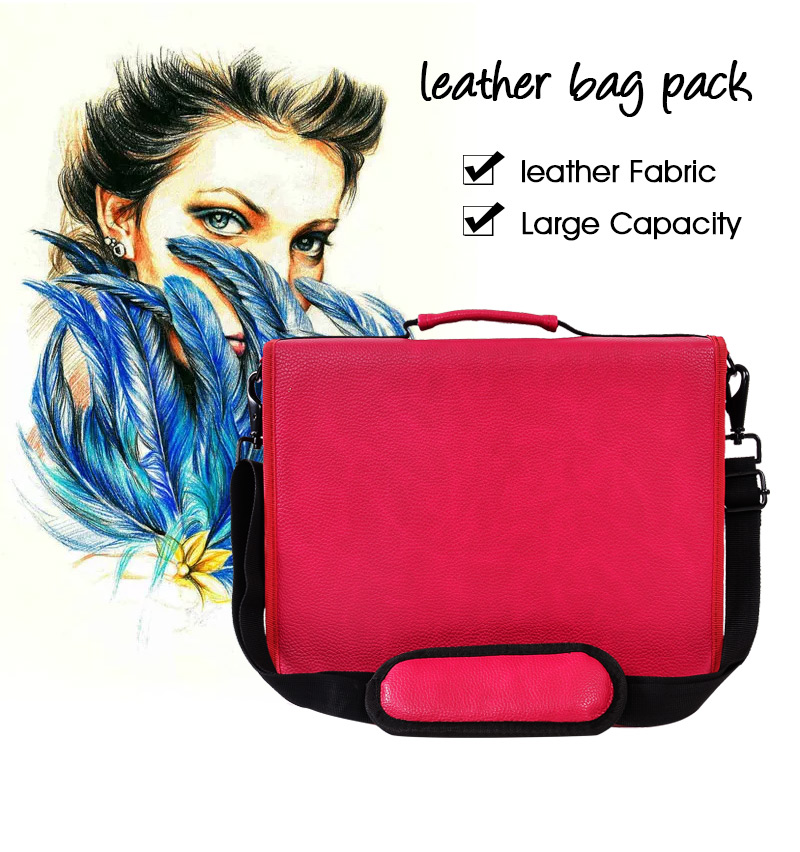 160 Hole Folding PU Leather School Pencils Case Large Capacity Portable Pencil Bag For Colored Pencil Gel Pen Case Art Supplies big capacity high quality canvas shark double layers pen pencil holder makeup case bag for school student with combination coded lock