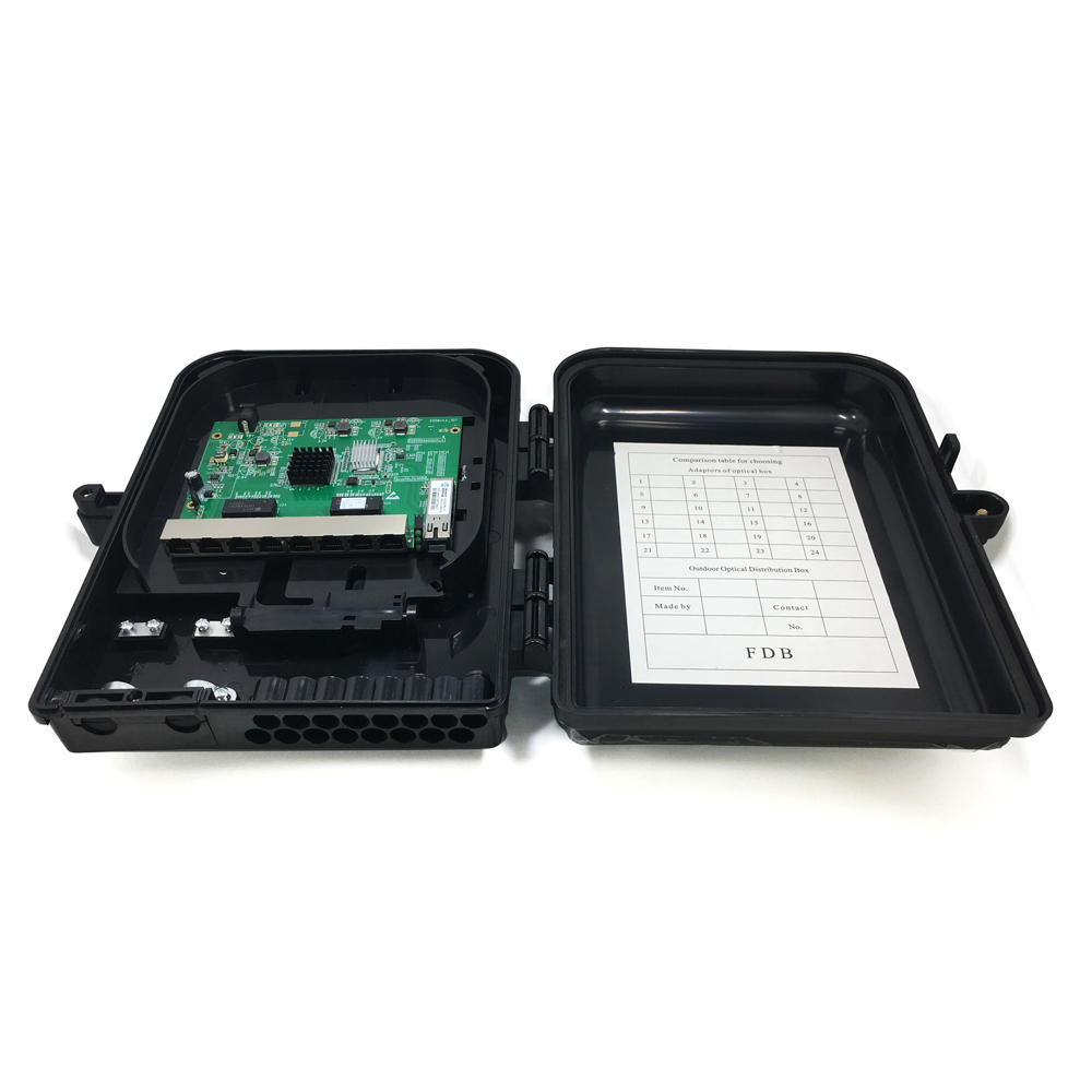 Reverse PoE ONU 8FE Outdoor Application Surge Protection Water Protection IP65 RPOE GEPON ONU