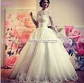 Appliques Lace Long Sleeve Wedding Dresses 2016 High Neck Vintage Wedding Gowns China Wedding Gowns 2016 Vestidos De Novia W604