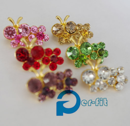 scarf brooch pin fashion mini shawl double flower shaped fix safety brooch scarf pin high 6 colors FREE ship 12pc/lot