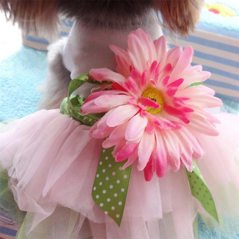 2018 Dog Gauze Tutu Dress Skirt Pet Dog Cat Princess Clothes Hot Sale Bowknot Dress Mascotas Ropa Perros Dog-Summer-Clothes C22