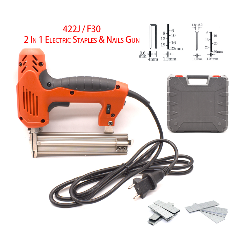 The New 422J F30 2 In 1 Electric Nail Stapler Gun For Home Improvement And Woodworking