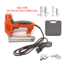 2-In-1 Electric-Nail-Stapler-Gun Home Improvement 422J/F30 Woodworking New The for And