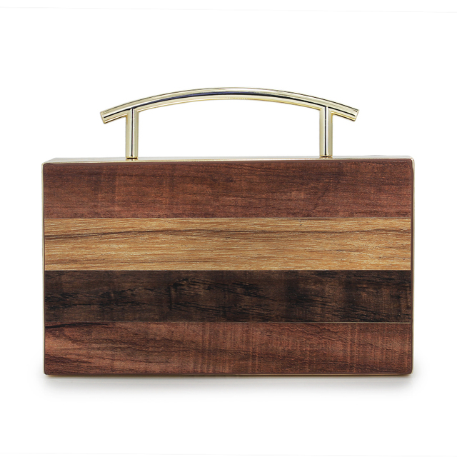 2018 модный бренд Для женщин Дерево Сумочка Симпатичные коробки из массива дерева бумажник сцепления сезон: весна–лето Женская вечерняя сумка (C1586)