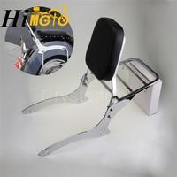 Chrome Motorcycle Rear Passenger Backrest Sissy Bar + Luggage Rack For 2000 2011 Yamaha V Star V Star XVS Dragstar 1100 Classic