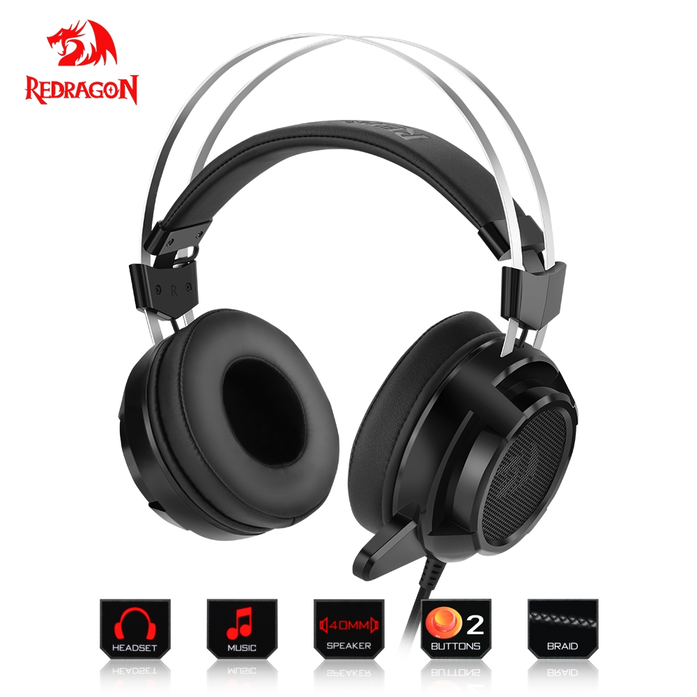 5b27bf60970352 Redragon Gaming Headphones Headset Deep Bass Stereo wired gamer 3 colors  backlight Earphone Microphone for PC