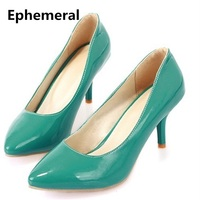 2015 Lady S Big Size 4 To 12 Sexy Attractive Plain Comfortable Candy Color Thin High