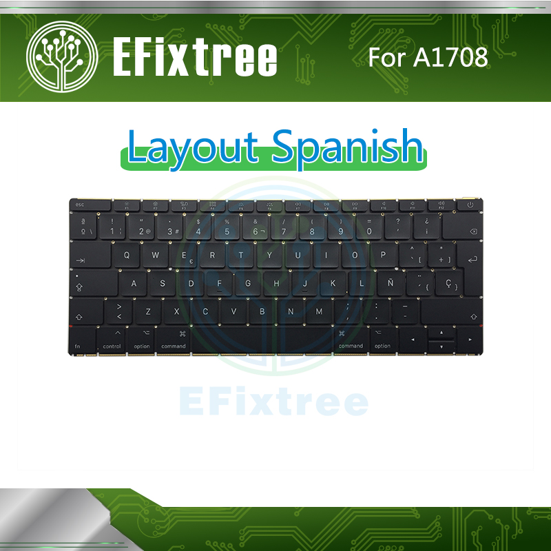 Original New A1708 Keyboard Layout Spanish For Macbook Pro Retina 13 A1708 2016 2017 Replacement EMC 3164 EMC 2974 image