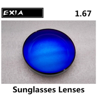 Blue Lens Polarized 1.67 Optical Lenses Myopia Sunglasses Lenses EXIA OPTICAL KD 98 Series