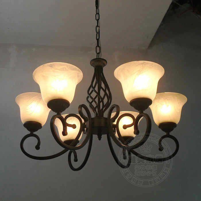 Fashion pendant light brief modern american bedroom lamps glass iron lamp fashion pendant light bar pendant light brief modern pendant light