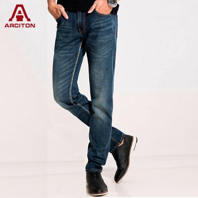 d2b7c2e92f67b A ARCITON 2016 Spring Men s Casual Jean Slim Regular Straight Fit  Distressed Pantalones vaqueros hombre Elastic Jeans(N-873)