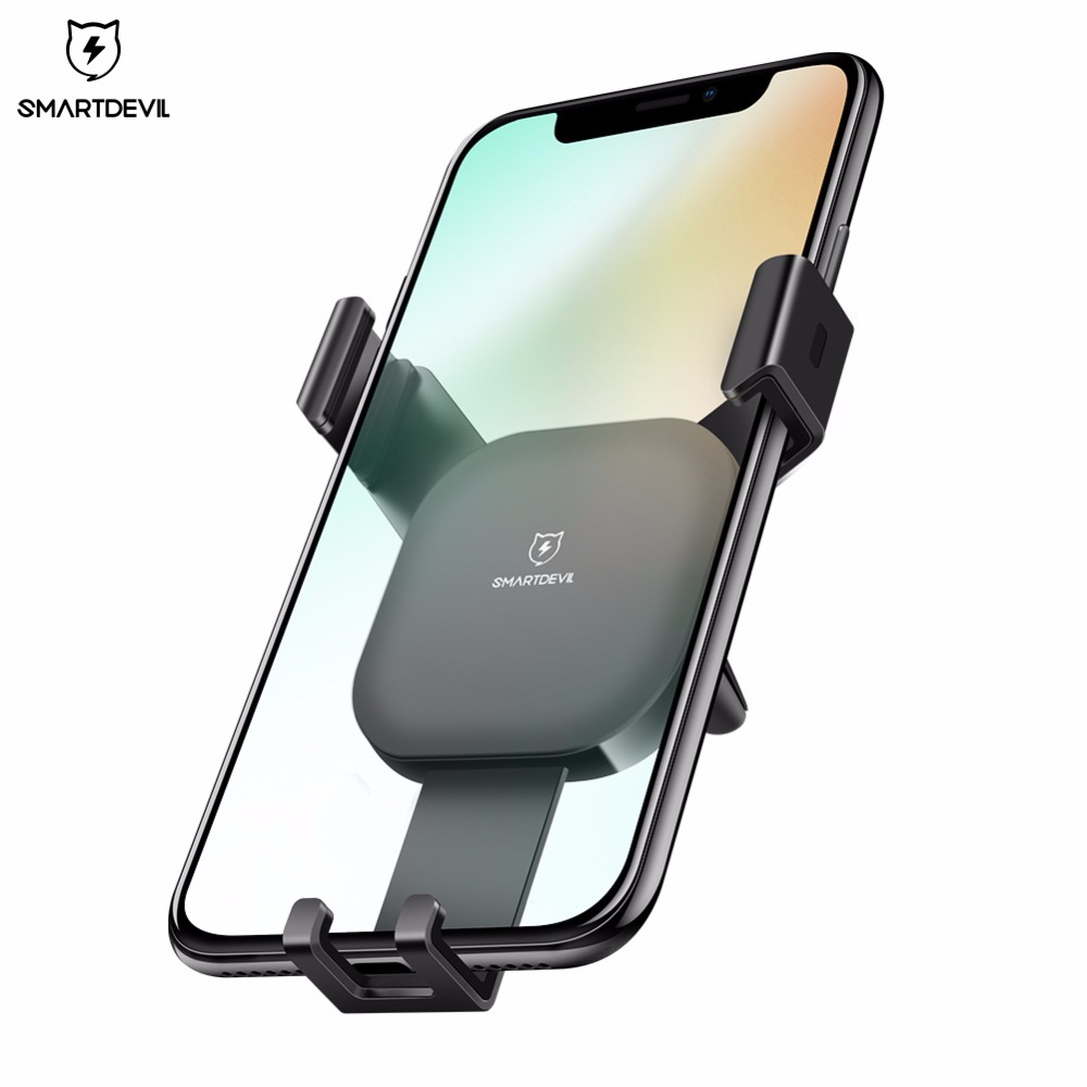 SmartDevil Car mobile Holder for Phone Gravity Reaction Air Vent Mount Phone Holder Cell Phone Holder Stand for Samsung Xiaomi in Phone Holders Stands from Cellphones Telecommunications