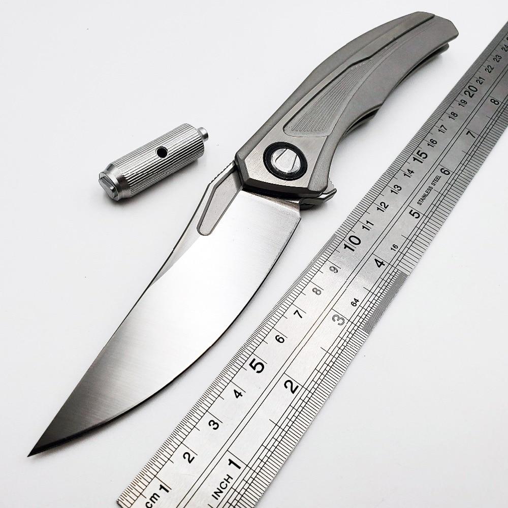 Couteau pliant tactique S35VN lame titane survie en plein air Camping couteaux de poche Flipper chasse Karambit plongée EDC outils