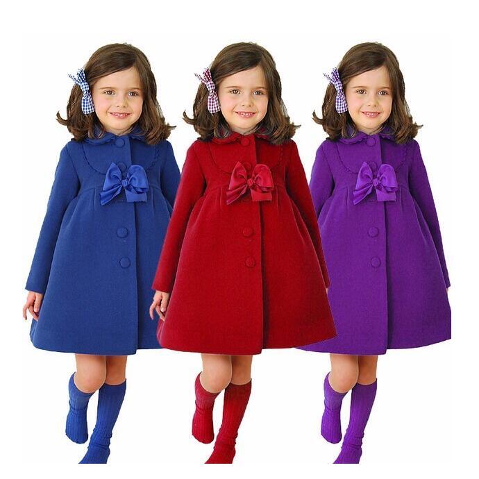 2017 New Girls Winter Long Coats Children Fashion Woolen Trench Kids Winter  Keep Warm Jacket Cotton Clothing In Stock 8e85a02e09d9