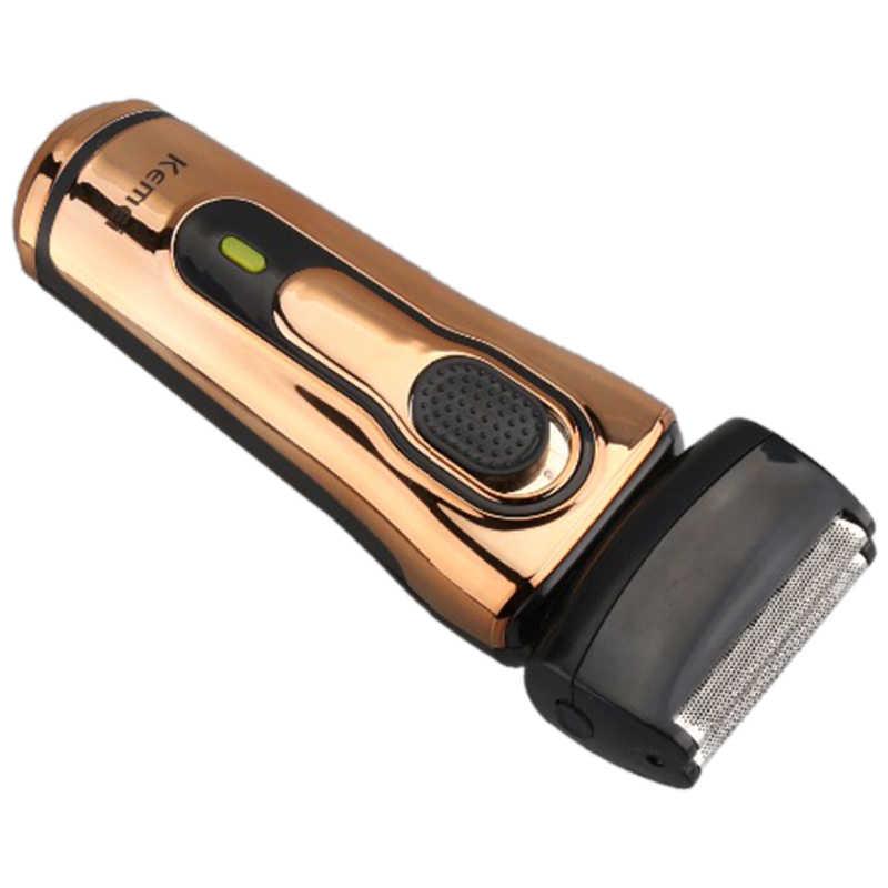 Kemei barbear navalha barbeador Elétrico Recarregável Homens Barbeador Cuidados Faciais KM-868 Navalhas De Barbear Elétrico