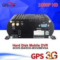Реального времени наблюдения 3g Мобильный DVR, онлайн Мобильный dvr, 1080 P 4 канала Автомобильный видеорегистратор с 3g gps, PC/Iphone контрольное записы