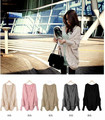 Free shipping Women Oversized Knitted Sweater Batwing Sleeve Tops Outwear Coat Cardigan