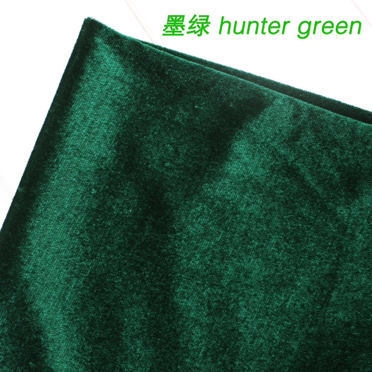 Hunter Green Silk Velvet Fabric Velour Fabric Pleuche Fabric Table Cloth Table Cover Curtain Fabric Sold Bty