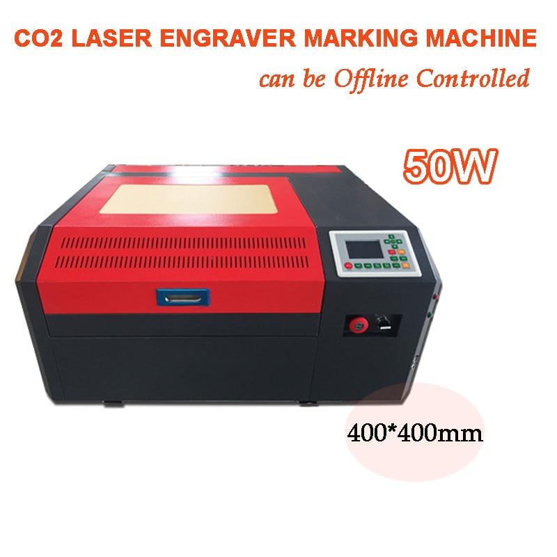 Laser Engraver RD6442 Offline Controller 50W USB Port CO2 Engraving Cutting Carving Laser Machine 400*400mm DIY Marking Logo