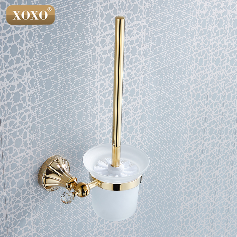 XOXONEW Brass & Crystal Toilet Brush Holder,Gold Plated Toilet brush Bathroom Products Bathroom Accessories 16081G все цены